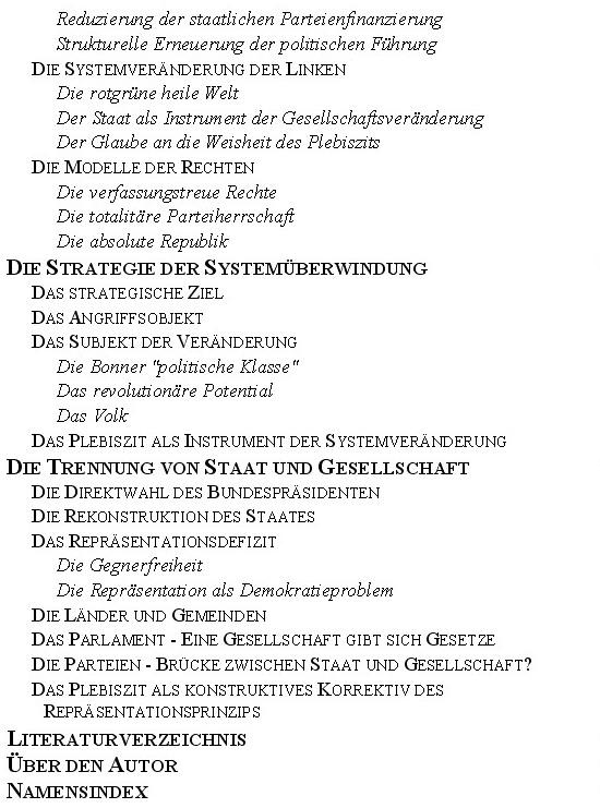 Klaus Kunze Der Totale Parteienstaat